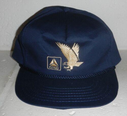Vintage Citgo Petroleum Gas Corporation Company Logo Gold Eagle Baseball Hat Cap