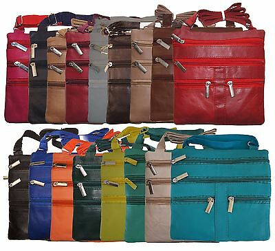 Ladies Genuine Leather Cross Body Bag Satchel Messenger Bag 48
