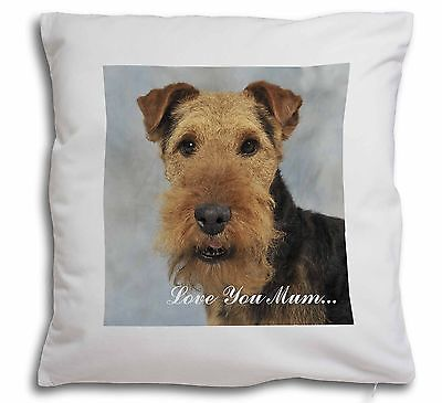 Welsh Terrier Dog 'Love You Mum' Soft Velvet Feel Cushion Cover W, AD-WT1lym-CPW