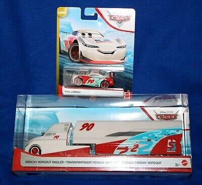 Disney Pixar Cars Ponchy Wipeout Hauler with Paul Conrev 2 car set 1 price