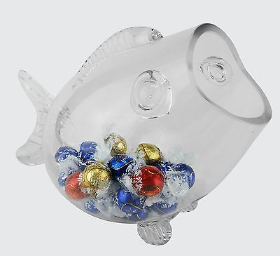 Glass Fish Shaped Candy Aquarium Bowl Jar, Valentine