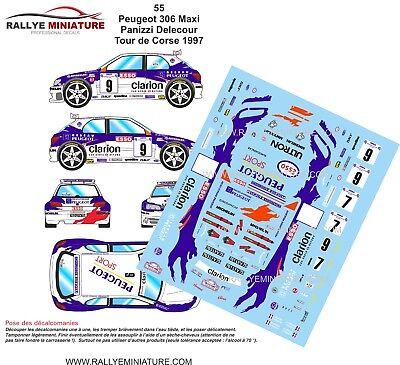 DECALS 1/43 REF 0055 PEUGEOT 306 MAXI DELECOUR TOUR DE CORSE 1997 RALLYE WRC segunda mano  Embacar hacia Spain