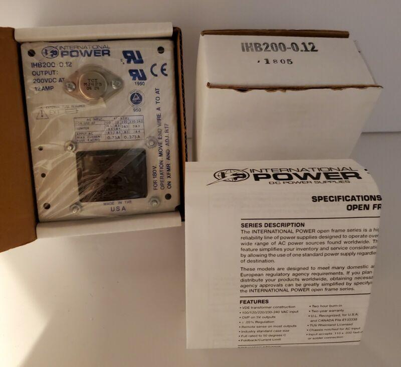 International Power IHB200-0.12 Power Supply New in Box