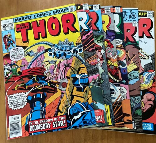 THOR  261, 267, 268, 271, 289, 316 and 319  SIX BRONZE AGE COMICS