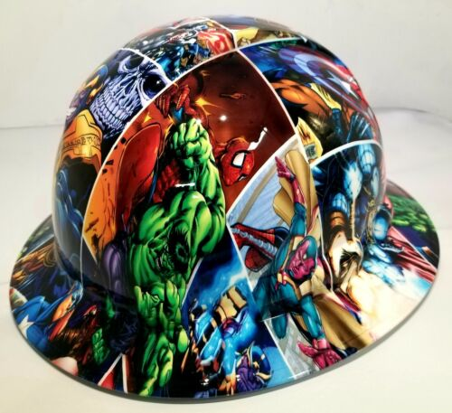 FULL BRIM Hard Hat custom hydro dipped , NEW SUPER HEROES END GAME NEW PYRAMEX 2