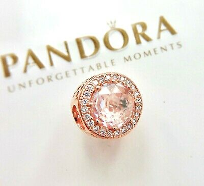 Authentic Pandora Rose Gold  Radiant Clear Hearts Crystal Charm 781725LH