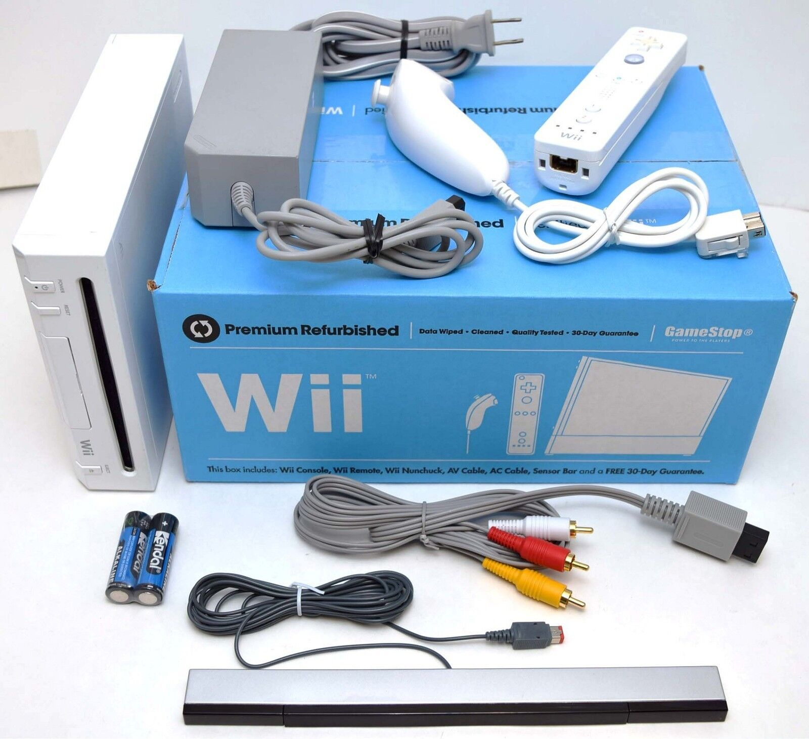 Nintendo Wii System + NEW ACCESSORIES Bundle GameCube Port Console ...