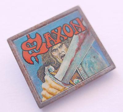 Anstecknadel ----Saxon---- 80er Jahre Button