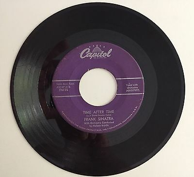 Frank Sinatra Time After Time French Foreign Legion Vinyl 45 F4155 Capital Recor
