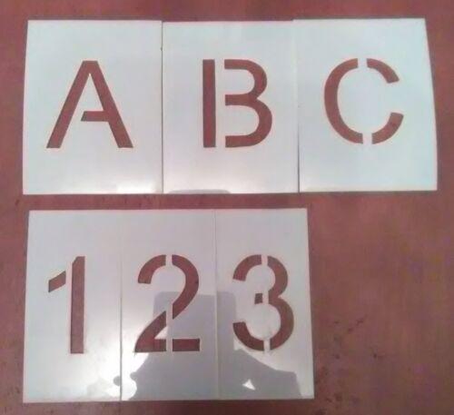 Arial Alphabet & Numbers -Stencils- Parking lot - Letters - Paint