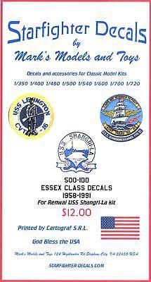 Starfighter Decals 1/500 U.S.S. ESSEX CLASS AIRCRAFT CARRIER MARKINGS -