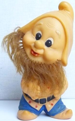 Vintage Original Soviet Dwarf Russian Rubber Toy Doll  USSR