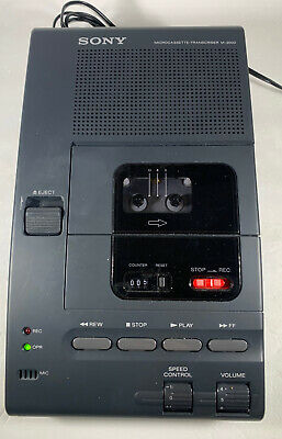 Sony M-2000 Microcassette Transcriber Recorder With Foot Pedal Ac Adapter