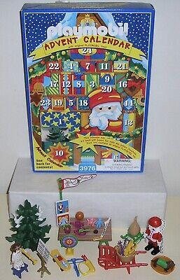 1998 Playmobil 3976 Christmas Advent Calendar Kris Kindle Market Toys Santa 100%