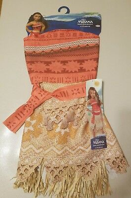 2017 Halloween Costumes For Kids (Disney Moana Costume for Dress Up Play or Halloween Sizes 4-6x; Ages 3 + NEW)