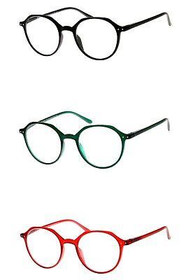 Lesebrille rund mit schönen großen Gläsern in rot grün schwarz leicht