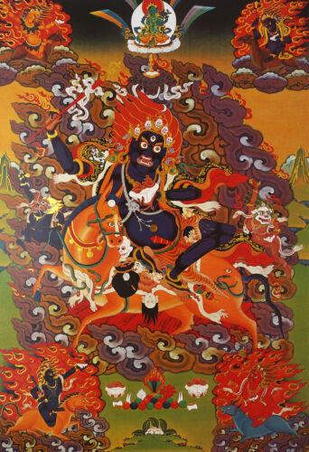 "6"" BLESSED TIBETAN THANGKA PRINT POSTER: Palden Lhamo Portector"