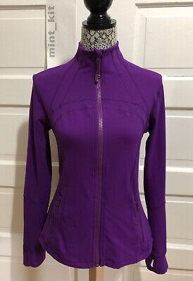 LULULEMON Define Jacket *Brushed Size 12 Tender Violet Thumbholes Cuffins $118