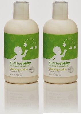 Lot of 2 SHAKLEE Baby ~ 78% Organic Ingredients Soothing Lotion ~ 8.5 oz each