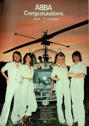Epic Records Congratulations Abba  Music Industry 1970
