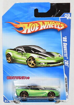 HOT WHEELS 2009 FASTER THAN EVER '09 CORVETTE ZR1 #09/10 GREEN W+