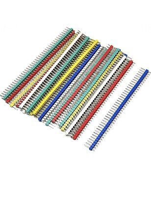 40 Pin Strip Breakable Pin Header Tin Pcb Panel Ic Male 2.54mm Pack Of 20