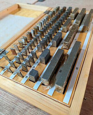 Gage Block Set Gauge Precision Metric Set 83 Pcs New Old Stock Ussr