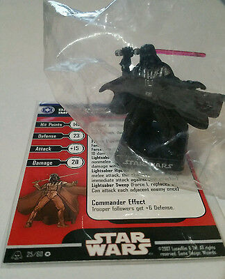 NEW - Star Wars Miniatures Darth Vader Imperial Commander 25/60 Alliance Empire