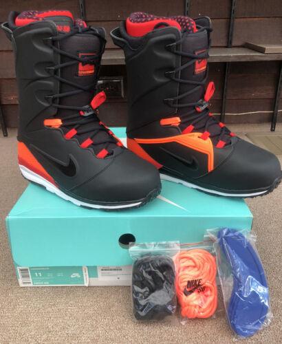Nike SB LUNARENDOR Snowboard Boots Men's U.S. Size 11 BLACK/