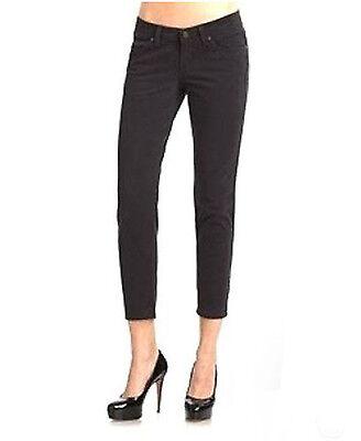 NEW NWT Calvin Klein Black Skinny Leg Cropped Capri Pants Size 6