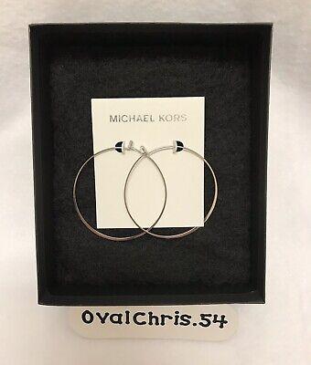 MICHAEL KORS MKJ1166040 Silver Tone Hoop Earrings New!