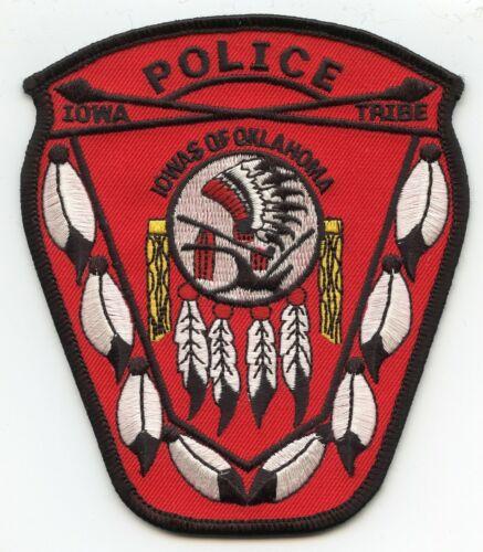 IOWAS OF OKLAHOMA OK IOWA INDIAN TRIBE TRIBAL POLICE PATCH