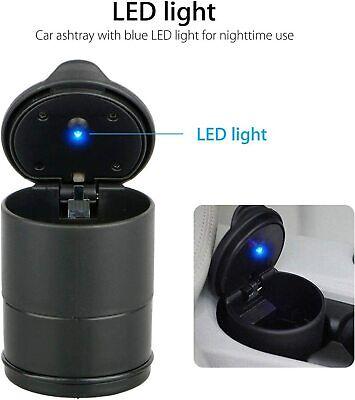 LED Auto Car Truck Cigarette Smoke Ashtray Ash Cylinder Holder For Offiice/Home