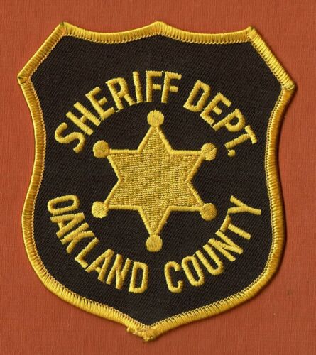 SHERIFF DEPT. OAKLAND COUNTY NO RESERVE PATCH