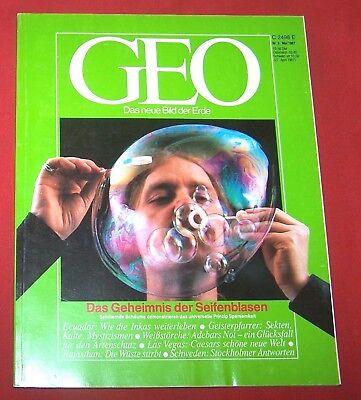 GEO 1987 Nr  5 , Ecuador Weißstörche Stockholm Seifenblasen Geisterpfarrer Thar