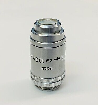 Leitz Pl Apo Plan Apochromat 100x1.32 Oil Microscope Objective 170mm