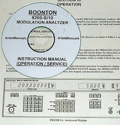 Boonton 8200 S10 Modulation Analyzer Operating Service Manual Wschematics