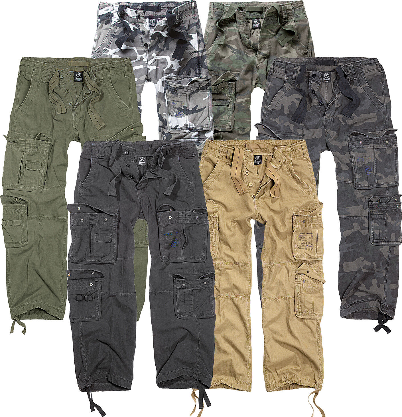 Brandit basic vintage mens cargo shorts