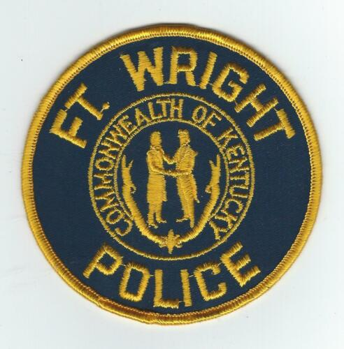 VINTAGE FT. WRIGHT, KENTUCKY POLICE (CHEESE CLOTH BACK) patch