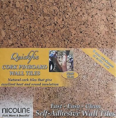 - CORK PIN BOARD TILES MESSAGE PINBOARD NOTICEBOARD SELF ADHESIVE 4 PACK EASY USE