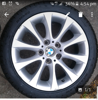 """Bmw 17"""" genuine rims with new  tyres"""
