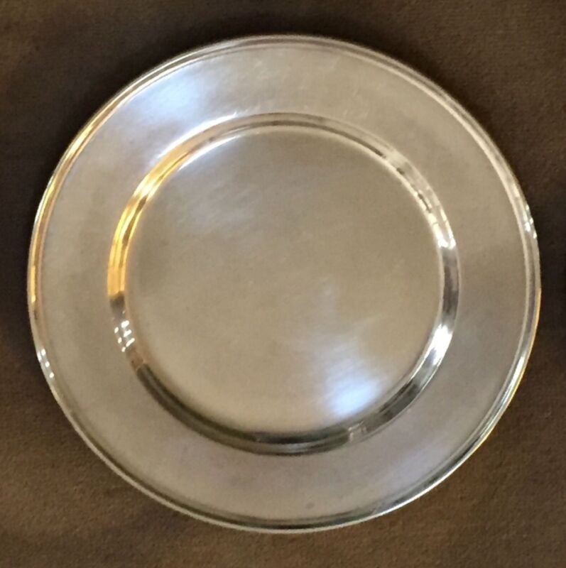 Lot of 6 Vintage Sterling Silver Bread & Butter plates