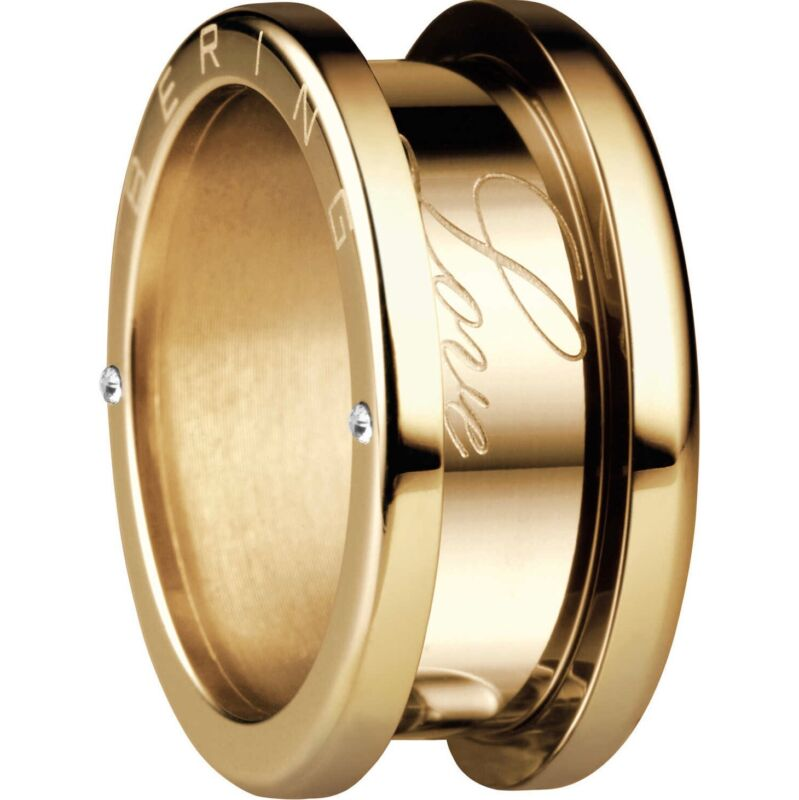 Bering+Arctic+Symphony+Size+55+17.4mm+Diameter+Polished+Gold+Ring+520-20-74
