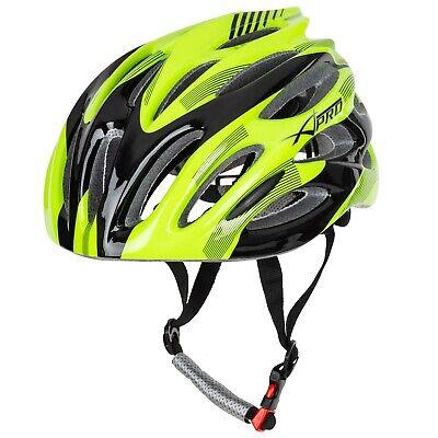 Casco Bici Mountain Ciclismo MTB Bicicletta Strada Leggero Regolabile Fluo Nero
