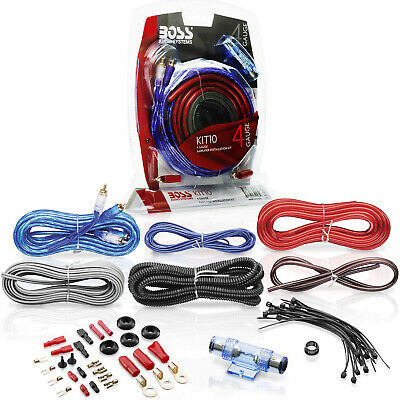 BOSS Audio Systems KIT10 4 Gauge Car Audio Amplifier Installation Wiring Kit