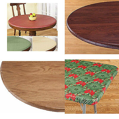 Table Cover Vinyl (Elasticized Tablecloths Table Cover Fitted Cover Vinyl  Polyester Fabric)