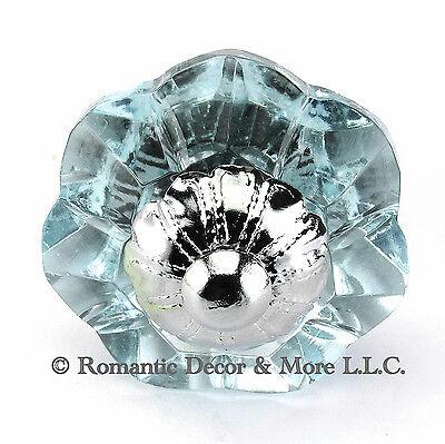 Arctic Glass Cabinet Knobs Kitchen Drawer Pulls Art Deco Handle #K186F-CH Art Deco Cabinet Knobs