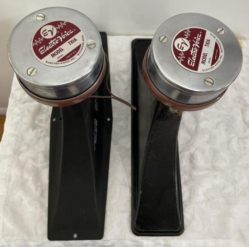 Electro Voice EV T10A Midrange Compression Driver & Horn Pair