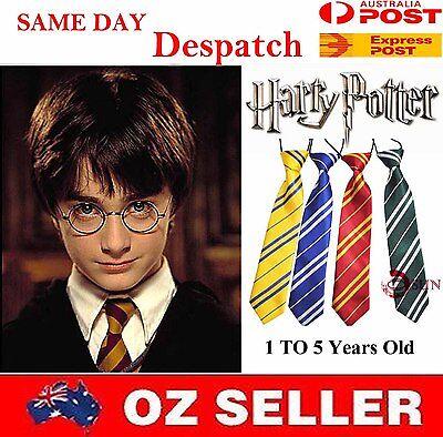 Harry Potter Costume Elastic Neck Tie Necktie Boys Kids Toddler 1 to 5 Years Old - Boys Harry Potter Costume