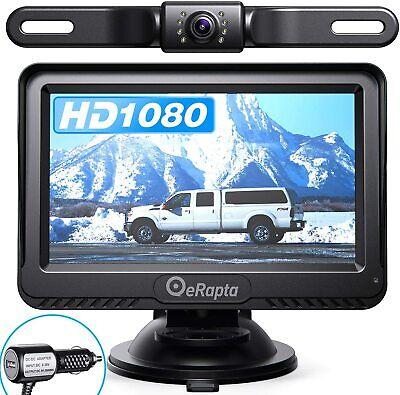 """eRapta Backup Camera Car Rear View HD Parking Night Vision 4.3"""" Monitor System"""